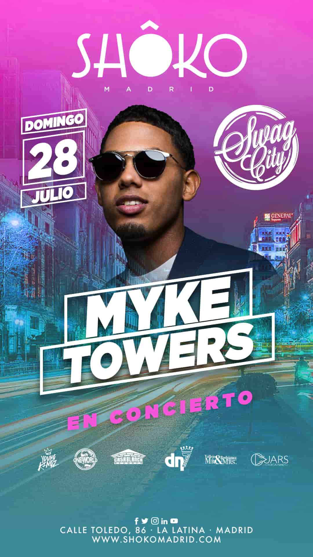 SWAG CITY | MYKE TOWERS en concierto